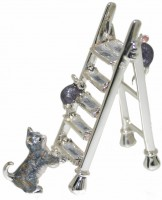 13103 Cat,mice on ladder