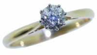 D9.4-Diamond-single-stone-ring platinum and 18ct gold mount