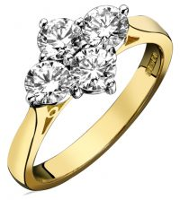 Diamond 4 stone cluster ring