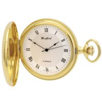 1028 Gold plated jewel lever Woodford Hunter pocket watch