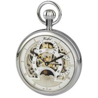 1050 Chrome Skeleton Woodford dual time pocket watch