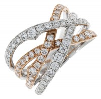 H57.4 Diamond fancy 4 row ring