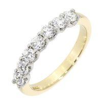H78.4 diamond 7 stone half eternity ring
